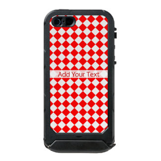 Red And White Diamond Pattern by ShirleyTaylor Incipio ATLAS ID™ iPhone 5 Case