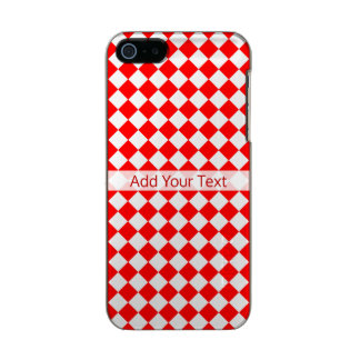 Red And White Diamond Pattern by ShirleyTaylor Incipio Feather® Shine iPhone 5 Case