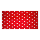 Red and White Dots Photo Card