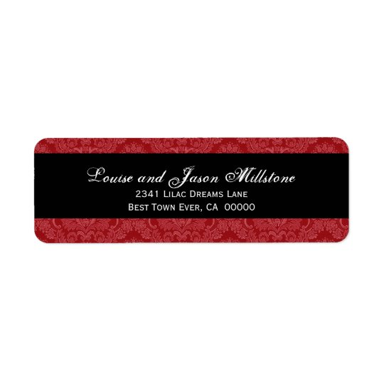 Red and White Feathery Damask Wedding Collection
