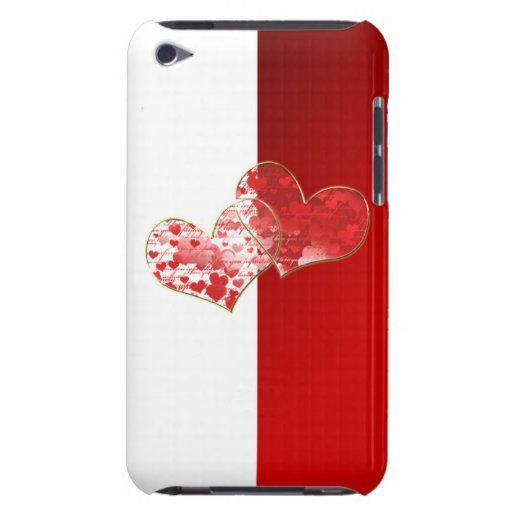 Red and white flag of love iPod Case-Mate cases