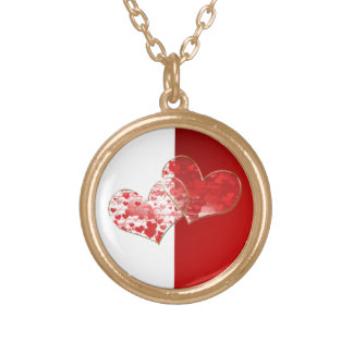 Red and white flag of love custom jewelry