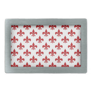 Red And White fleur-de-lys Belt Buckle