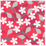 Red and White Flowers. Floral Pattern. Acrylic Cut Out