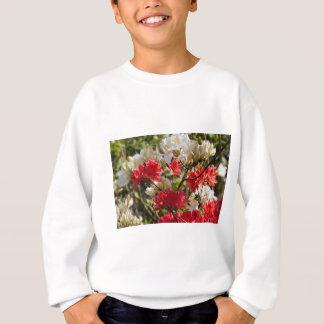 Red and white flowers sweatshirt