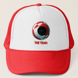 Red and White Football (add your photograph) Trucker Hat