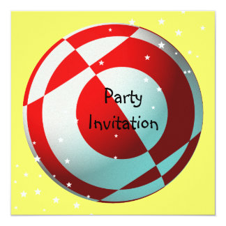 Red and White Football Party Invitation