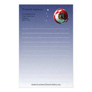 Red and White Football Photograph Template Stationery