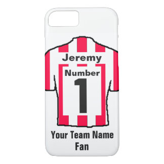 Red and white Football Shirt Choose name and team iPhone 8/7 Case