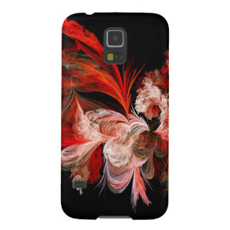 Red and White Fractal Galaxy S5 Cover