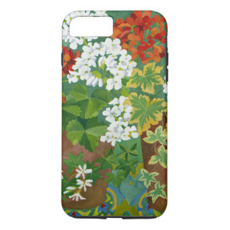 Red and white geraniums in pots 2013 iPhone 8 plus/7 plus case