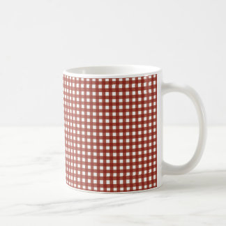 Red and White Gingham Coffee Mug