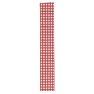 Red and White Gingham Pattern Long Table Runner