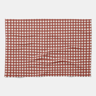 Red and White Gingham Tea Towel