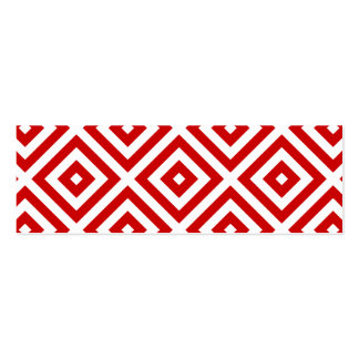 Red and White Granny Squares Business Card Template