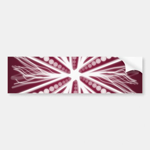 Red and white graphic circular design bumper stickers