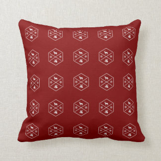 Red And White Happy Holidays Cushion