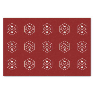 Red And White Happy Holidays Tissue Paper