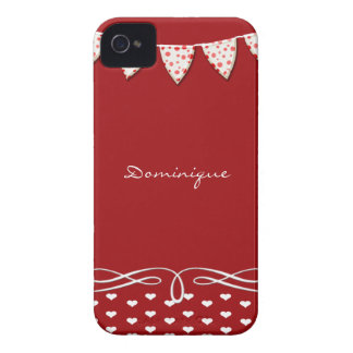 Red and White Heart Banner Blackberry Bold Cover