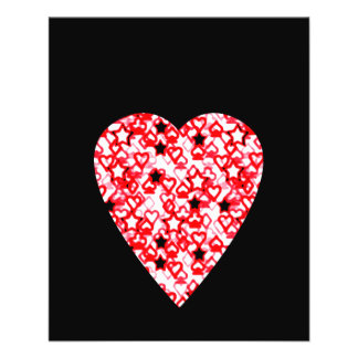 Red and White Heart Patterned Heart Design Flyer