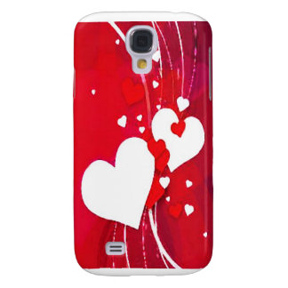 red and white hearts galaxy s4 case