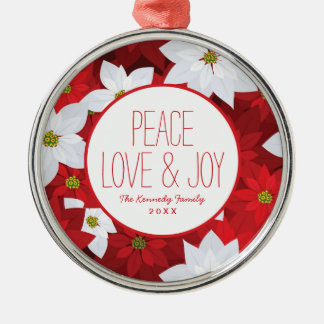 Red and White Holiday Background Christmas Ornament