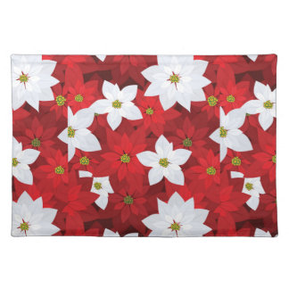 Red and White Holiday Background Placemat