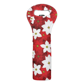Red and White Holiday Background Wine Bag