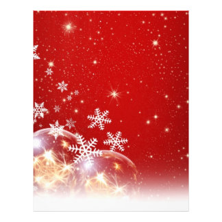 Red and White Holiday Christmas Bauble Design Full Color Flyer