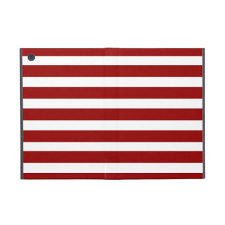 Red and White Horizontal Stripes Pattern Cover For iPad Mini