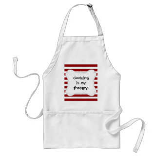 Red and White Horizontal Stripes Pattern Standard Apron