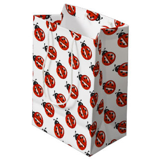 Red And White Ladybugs Gift Bag