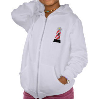 Red And White Lighthouse Girls Hoodie