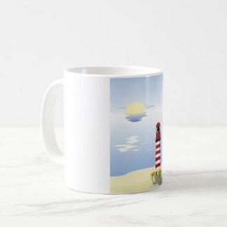 Red And White Lighthouse Mug
