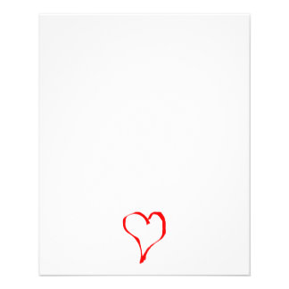 Red and White Love Heart Design. Full Color Flyer