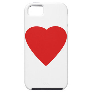 Red and White Love Heart Design. Tough iPhone 5 Case