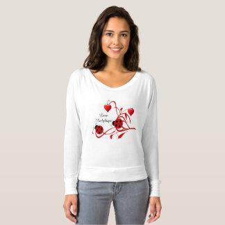 Red and White Love Ladybugs Bella Fashion Shirt
