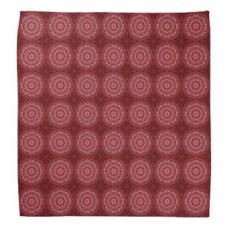 Red And White Mandala Pattern Bandana