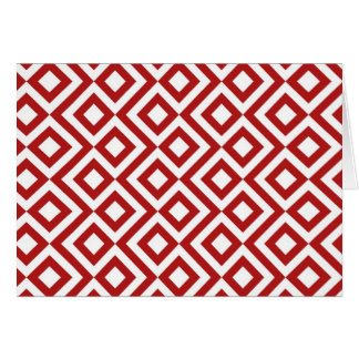 Red and White Meander Card