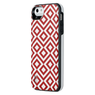 Red and White Meander iPhone 6 Plus Case