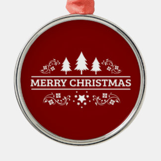 Red And White Merry Christmas Christmas Ornament
