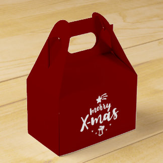 Red And White Merry Xmas Favour Box