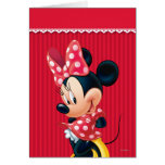 Red and White Minnie 4 Card