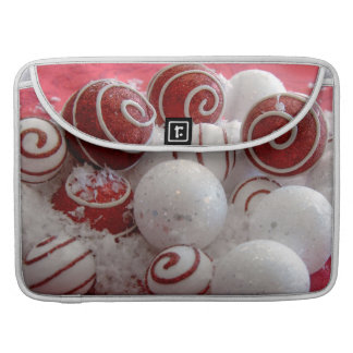 Red and White Ornaments MacBook Pro Sleeve