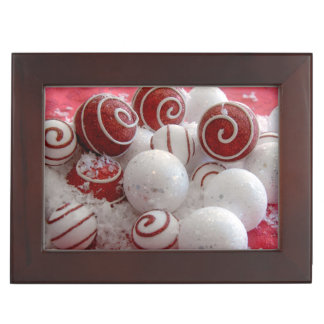 Red and White Ornaments Memory Boxes