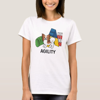 Red And White Papillon Agility Dog T-Shirt