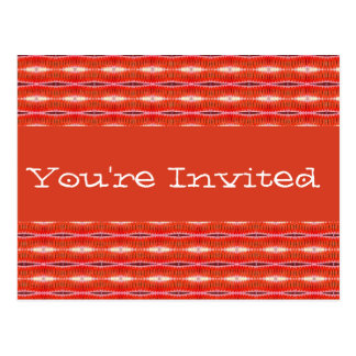 red and white party invite postcard