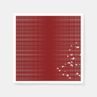 Red And White Pattern Disposable Serviettes