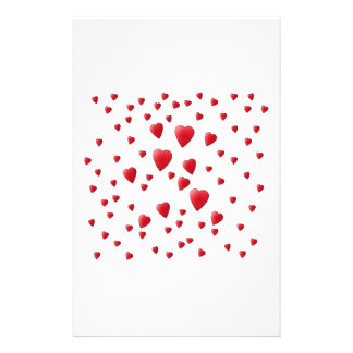 Red and White Pattern of Love Hearts Personalized Flyer