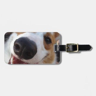 Red and White Pembroke Welsh Corgi Luggage Tag
